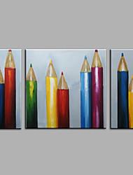 Pintados à mão Abstrato Vida Imóvel Horizontal,Moderno 3 Painéis Tela Pintura a Óleo For Decoração para casa