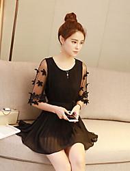 signent un nouvel été coréen femme mince robe beaucoup mousseline plissée frais jupe courte un mot