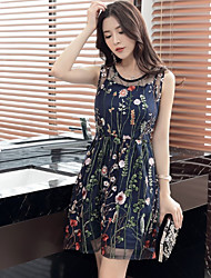 Light extravagance Department of rejoicing Alice Garden Seiko embroidered retro long section sleeveless strap dress women