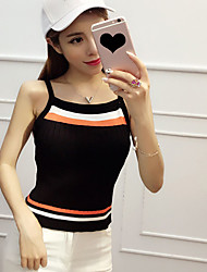 Real shot Korean version of the new fashion dress sexy halter vest tops bottoming shirt Slim was thin