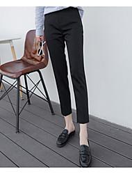 Pantalon de cigarette de printemps coréen gris pantalons de neuf points pantalons de jeans professionnels féminins droits pantalons pieds
