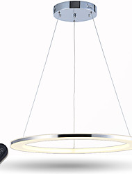 LED Ring Pendant Light Dimmable Ceiling Chandeliers Lighting for Dining Room with Remote Control