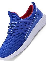 Masculino-Tênis-Conforto Solados com Luzes-Rasteiro-Preto Cinzento Azul-Tule-Ar-Livre Para Esporte
