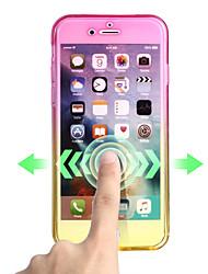 Назначение iPhone X iPhone 8 Чехлы панели Ультратонкий Чехол Кейс для Градиент цвета Мягкий Термопластик для Apple iPhone X iPhone 8 Plus