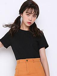 знак 2017 лето новая мода тонкий вокруг шеи футболку нерегулярные