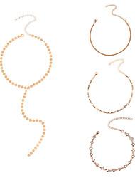 Ожерелья-бархатки Ожерелья с подвесками Ожерелья-цепочки Бижутерия Кристалл Базовый дизайн По заказу покупателя Euramerican Простой стиль