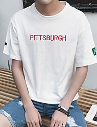 Sommermänner&# 39; s Briefe gedruckt Kurzarm T-Shirt Aberdeen Wind