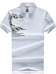 то новое лето 2017 мужчин&# 39, S короткий рукав футболки печать воротник короткий рукав футболки прилива большой ярдов прилив бренда