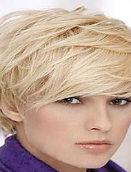 Diy-Wig Short Hair  Natural  Fluffy Straight Hair   Human Hair Capless Wigs For Enchanting Women
