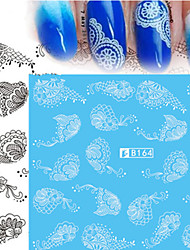 5pcs/Style Fashion Nail Art Water Transfer Decals Sweet Black&White Lace Sticker Nail Art Beauty Design B164