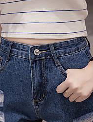 signer un short de printemps et haute denim taille d'été, femmes lavaient short en jean effiloché étudiants coréens
