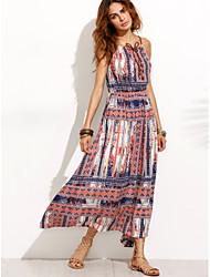 Модели взрыва внешней торговли случайные печати талии платье богемной платье