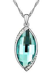 Femme Pendentif de collier Cristal Forme Ovale Circulaire Original Simple Style Blanc Orange Vert clair Bijoux Pour Quotidien Décontracté
