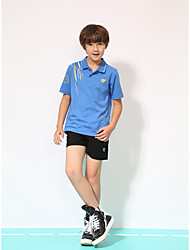 Kid's Half Sleeve Tennis Clothing Sets/Suits Shorts Breathable Quick Dry Comfortable Yellow Red Blue Orange Black Badminton