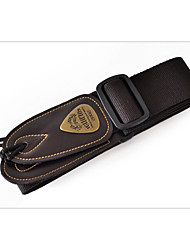 Random color Professional Straps High Class Guitar Acoustic Guitar Electric Guitar New Instrument Leather Musical Instrument AccessoriesRed Black