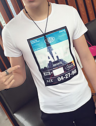 Men's short-sleeved t-shirt Korean Slim Printed cotton casual short-sleeve T-shirt men t-shirt men