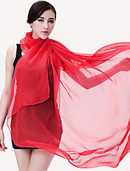 Sunscreen Scarves Anti-ultraviolet Shawl Solid Color Large Chiffon Beach Scarf Female