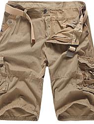Homme Vintage simple Mignon Taille Normale non élastique Short Pantalon,Ample Rayé