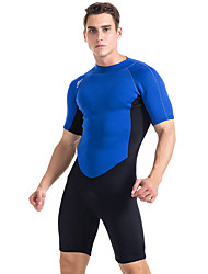 Sports Men's 2mm Shorty Wetsuit Breathable Anatomic Design Compression Lightweight Materials Rubber Diving Suit Short Sleeve Diving Suits-