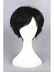 Short Ye Xiu Synthetic Black 12inch Anime Cosplay Wig CS-223A