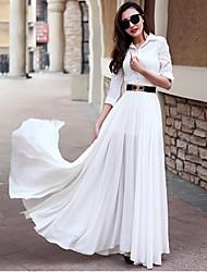 Soeur royale a mis sur une grande jupe à manches longues style style sexy jupe longue longueur