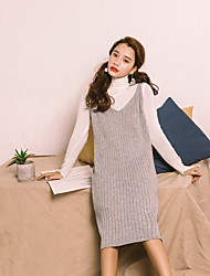 Spot real shot sweater Dress spring new sweater and long sections