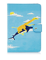 For Apple iPad Mini 4 3 2 1 Case Cover Animal Pattern Painted Card Stent Wallet PU Skin Material Flat Protective Shell