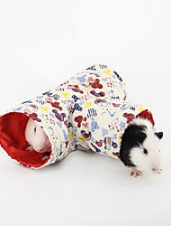 pequenos animais túnel de brinquedo cama para roedores coelho cor aleatória