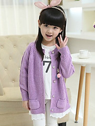 Casual/Daily Solid Blouse,Cotton Winter Fall