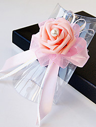 Wedding Flowers Free-form Roses Wrist Corsages Wedding Party/ Evening Satin Bead