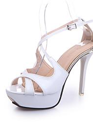 Women's Heels Summer Club Shoes Leatherette Party & Evening Casual Chunky Heel Metallic toe Walking