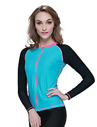 Women's Wetsuit Top Quick Dry Anatomic Design Breathable Compression Neoprene Diving Suit Long Sleeves Tops-Diving Spring Summer Fashion