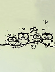 Wall Stickers Wall Decals Style Cartoon Owl PVC Wall Stickers