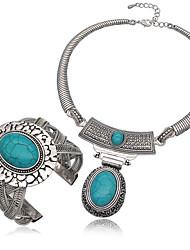 Schmuck 1 Halskette Armbänder&Armbänder Hochzeit Partei besonderen Anlass halloween täglich Legierung türkis 1set