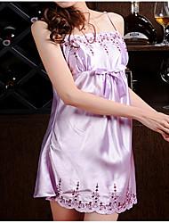 Chemises & Blouses Vêtement de nuit Femme,Dentelle Solide Polyester