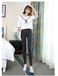 Sign waist jeans pants female feet nine points was thin black stretch pencil pants trousers tide