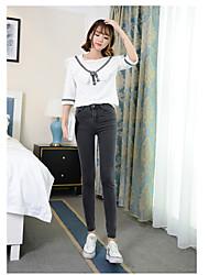 Zeichen Taille Jeans Hosen weibliche Füße neun Punkte war dünne schwarze Stretch Bleistift Hose Hosen Gezeiten