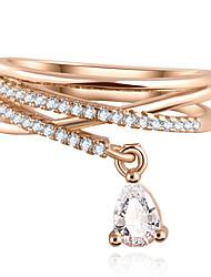 свадьба капля воды циркон кулон роскошь ювелирных изделия крест многоэтажного кольцо (золото и серебро)