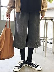Sign falso duas calças de veludo de veludo cotelê