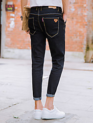 neuf hommes de printemps et d'été&# 39; jeans marée mince pieds élastiques 9 pantalon noir