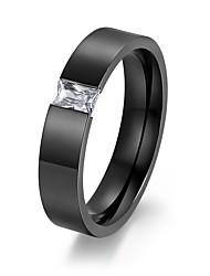 Ring Stahl Runde Form Kreis Gold Schwarz Schmuck Alltag 1 Stück