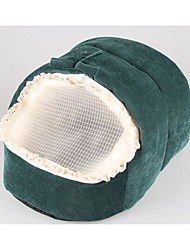 Cat Dog Bed Pet Baskets Solid Portable Breathable Soft Tent Ruby Green