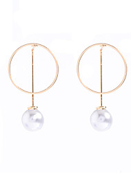 Hoop Earrings Dangle Earrings Imitation Pearl Obsidian Pearl Imitation Pearl CopperDangling Style Pendant Imitation Pearl Fashion