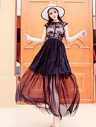 Sinal nova rendas vestido de swing grande gaze retro