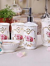 European-style Bone Porcelain Bathroom Set of Bathroom