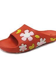 Damen-Slippers & Flip-Flops-Kleid Lässig Party & Festivität-PU-Flacher Absatz-Neuheit-Schwarz Rot Grün