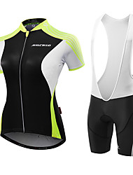 Cycling Jersey with Shorts Women's Short Sleeves Bike Jersey Anatomic Design Moisture Permeability Breathable YKK Zipper Compression