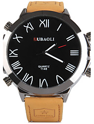JUBAOLI Hommes Montre de Sport Quartz Alliage Bande Orange Orange
