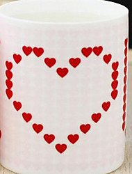 1 only theColored Novelty To-Go Outdoor Drinkware 400 ml Heat Sensitive Color-changing Boyfriend Gift Girlfriend Gift Ceramic Coffee MilkNovelty