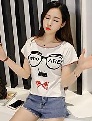 Sinal clearance 2017 coreano estudantes harajuku bf vento jaqueta grandes estaleiros solto impresso de manga curta t-shirt verão feminino